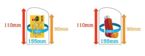 Funda Estanca Cartera X Mini 608 dimensiones del elemento mas grande que cabe dentro de la funda AQUAPAC 2