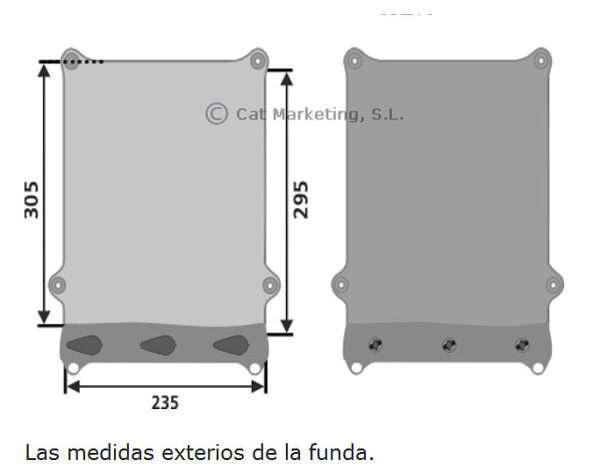 Funda Estanca Electronica X Grande 668 medidas AQUAPAC 1