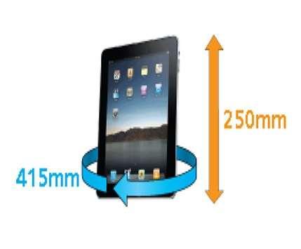 Funda Estanca Ipad Tabletas 638 dimensiones del elemento mas grande que cabe dentro de la funda AQUAPAC 1