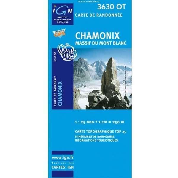 MAPA Chamonix Massif Du Mont Blanc IGN 3630OT