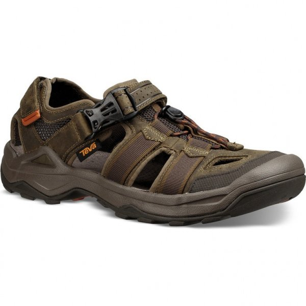 Omnum 2 leather dark olive1 teva.