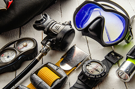 material buceo