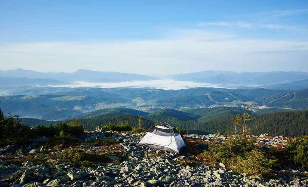 acampada montaña